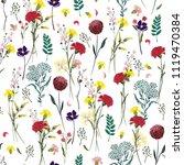 summer meadow flowers  full of  ... | Shutterstock .eps vector #1119470384