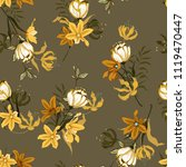 Vintage Seamless Pattern Vecto...