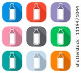 bottle of water  simple icon.... | Shutterstock .eps vector #1119471044