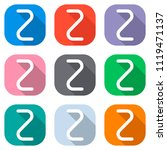 number two  numeral  simple... | Shutterstock .eps vector #1119471137