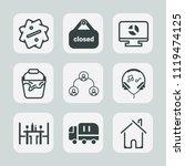 premium set of outline  fill... | Shutterstock .eps vector #1119474125