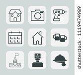 premium set of outline  fill... | Shutterstock .eps vector #1119474989