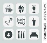premium set of outline  fill... | Shutterstock .eps vector #1119475691
