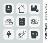 premium set of outline  fill... | Shutterstock .eps vector #1119479219