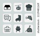premium set of outline  fill... | Shutterstock .eps vector #1119481169
