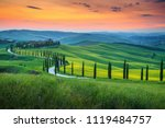 magical colorful sunset in... | Shutterstock . vector #1119484757