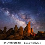 milkyway seen from earth | Shutterstock . vector #1119485237