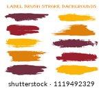 trendy label brush stroke... | Shutterstock .eps vector #1119492329