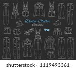 denim clothes collection.... | Shutterstock .eps vector #1119493361