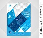 flyer design. business brochure ... | Shutterstock .eps vector #1119493451