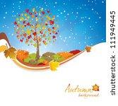 beautiful autumn background... | Shutterstock .eps vector #111949445