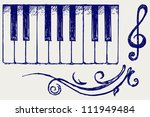 Piano. Doodle Style