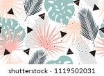 seamless tropical pattern.... | Shutterstock .eps vector #1119502031