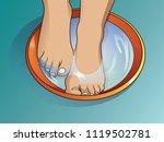 feminine feet in foot bath | Shutterstock .eps vector #1119502781