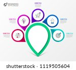 infographic design template.... | Shutterstock .eps vector #1119505604