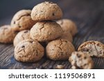 oatmeal cookies with chocolate... | Shutterstock . vector #1119506891