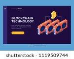 header for website. homepage.... | Shutterstock .eps vector #1119509744