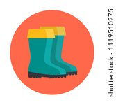rubber boots flat icon isolated ... | Shutterstock .eps vector #1119510275