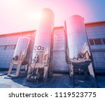 the tank with water  carbon and ... | Shutterstock . vector #1119523775