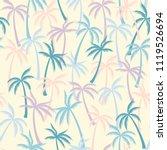 coconut palm tree pattern... | Shutterstock .eps vector #1119526694