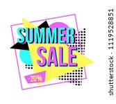 sale banner for online shopping ... | Shutterstock .eps vector #1119528851