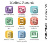 telemedicine and health records ... | Shutterstock .eps vector #1119529721