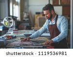 mature man with mosaic in... | Shutterstock . vector #1119536981