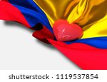 colombia day colombian... | Shutterstock . vector #1119537854