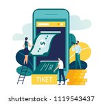 vector colorful illustration ... | Shutterstock .eps vector #1119543437
