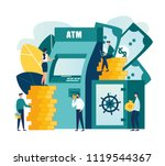 vector flat illustration ... | Shutterstock .eps vector #1119544367