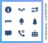 online chat icon set and bubble ...