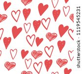 vector painted pattern  red... | Shutterstock .eps vector #1119545231