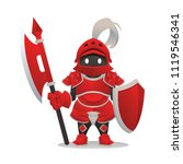 red knight character design | Shutterstock .eps vector #1119546341