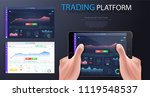 data analysis  statistics... | Shutterstock .eps vector #1119548537
