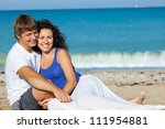 family on the beach | Shutterstock . vector #111954881