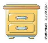 yellow drawer icon. cartoon of... | Shutterstock .eps vector #1119551864