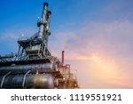 industrial furnace and heat... | Shutterstock . vector #1119551921