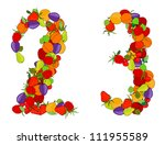 number two and number three...   Shutterstock .eps vector #111955589