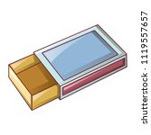 empty match box icon. cartoon... | Shutterstock .eps vector #1119557657
