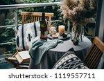 beautiful terrace or balcony... | Shutterstock . vector #1119557711