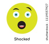 shocked icon vector isolated on ... | Shutterstock .eps vector #1119557927