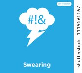 swearing vector icon isolated... | Shutterstock .eps vector #1119561167