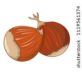 chestnut icon. cartoon of... | Shutterstock .eps vector #1119561374