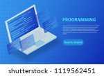 software development and... | Shutterstock .eps vector #1119562451