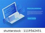 software development and... | Shutterstock .eps vector #1119562451