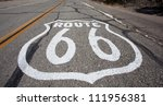 An old route 66 shield painted...