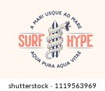 surf hype it's a vector... | Shutterstock .eps vector #1119563969