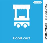 food cart vector icon isolated... | Shutterstock .eps vector #1119567959