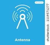 antenna vector icon isolated on ... | Shutterstock .eps vector #1119571277