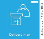 delivery man vector icon... | Shutterstock .eps vector #1119571304